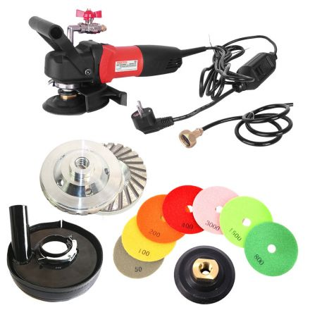 Hardin CCGRINDPOLSET220 220V 5-Inch Variable Speed Concrete Wet Polishing Grinding Kit (220 Volt is for Europe and parts of Asia and Central America)