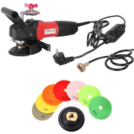 Hardin WVPOLSET220 4 Inch 220V Var Speed Polisher and 8 pc 4 Inch Diamond Polishing Pad Set (220 Volt is for Europe and parts of Asia and Central America)