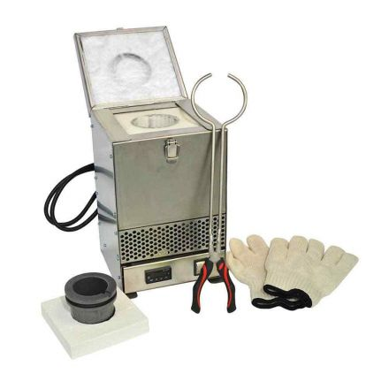 Hardin HD-2343SS Stainless Steel Tabletop Melting Furnace with 3kg Crucible 110 Volt 1.5KW