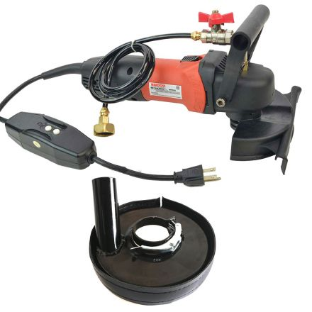 Hardin WVDGRIN 4 Inch Variable Speed 110V, 1000-4000 RPM Wet Polisher and Grinder 800 Watt 5/8 Inch x 11 Spindle with Dust Shroud